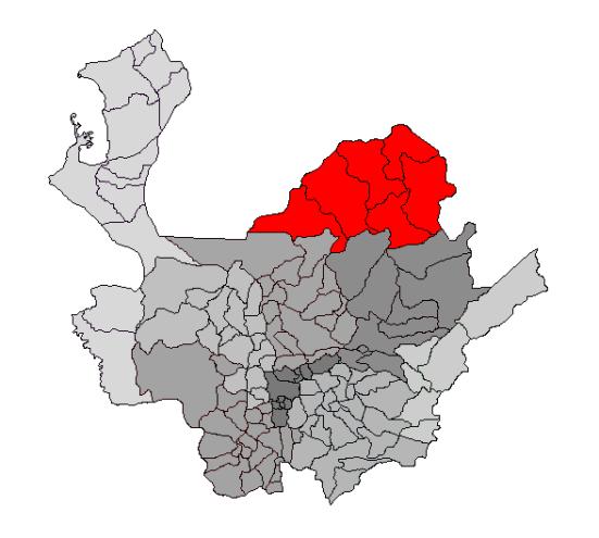 Bajo Cauca,Antioquia. Fuente: Wikipedia