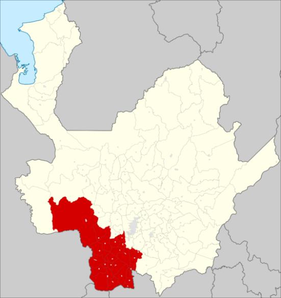 Suroeste antioqueño. Fuente: Wikipedia