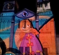 Videomapping sobre la fachada de la Catedral Basílica Metropolitana, Medellín