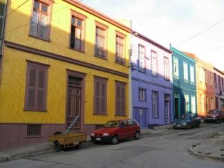 Casas coloridas, imagen típica de la ciudad