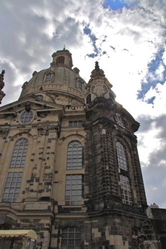 Detalle de una sección de la antigua iglesia